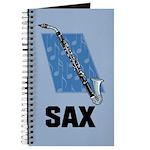 Sax Music Saxophone Notebook Journal