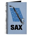 Sax Music Saxophone Notebook Journal