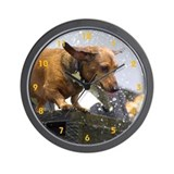 Dachshund time is flying Wall Clock