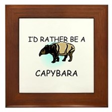 I'd Rather Be A Capybara Framed Tile