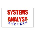 Retired Systems Analyst Rectangle Sticker