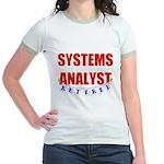 Retired Systems Analyst Jr. Ringer T-Shirt