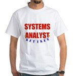 Retired Systems Analyst White T-Shirt