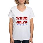 Retired Systems Analyst Women's V-Neck T-Shirt