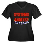 Retired Systems Analyst Women's Plus Size V-Neck D