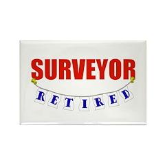 Retired Surveyor Rectangle Magnet (100 pack)