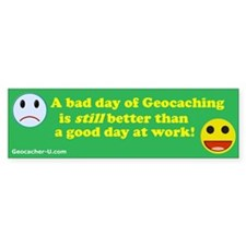 """A bad day..."" Bumper Bumper Sticker"