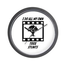 Tree Stunts Wall Clock