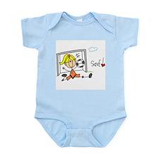 Girl Soccer Goalie Infant Bodysuit