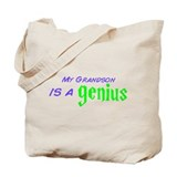 Genius Grandson Tote Bag