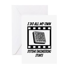 Systems Engineering Stunts Greeting Card