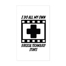 Surgical Technology Stunts Rectangle Decal