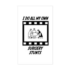 Surgery Stunts Rectangle Decal