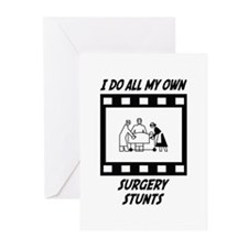 Surgery Stunts Greeting Cards (Pk of 20)