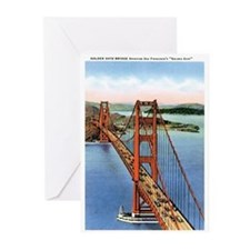 Golden Gate CA Greeting Cards (Pk of 20)