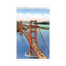 Golden Gate CA Rectangle Sticker 10 pk)