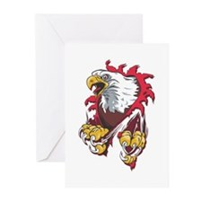 Ripped Eagle Greeting Cards (Pk of 10)