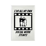 Social Work Stunts Rectangle Magnet