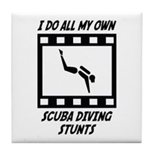 Scuba Diving Stunts Tile Coaster