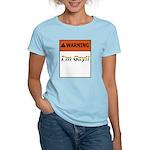 Warning I'm Gay Women's Light T-Shirt