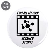 "Science Stunts 3.5"" Button (10 pack)"