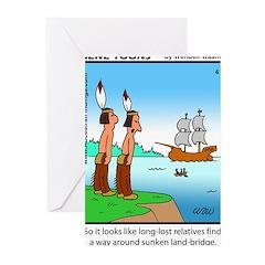 #4 Sunken land-bridge Greeting Cards (Pk of 20)