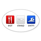 Eat Sleep Swim Oval Decal