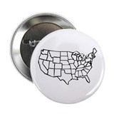 US Map 2.25&quot; Button