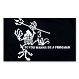 Navy Seal Team 3 Frogman Rectangle Decal