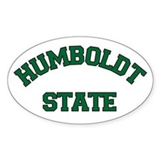 Humboldt State Oval Decal