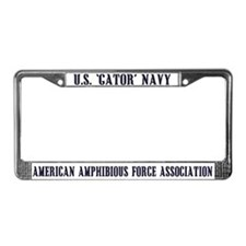 License Plate Frame GATOR NAVY