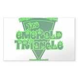 The Emerald Triangle Rectangle Decal