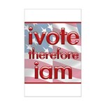 Think, Vote, Be with this Mini Poster Print
