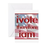 Think, Vote, Be with this Greeting Cards (Pk of 10