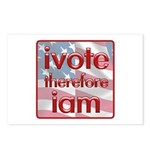 Think, Vote, Be with this Postcards (Package of 8)