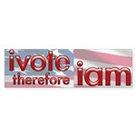 Think, Vote, Be with this Bumper Sticker (50 pk)