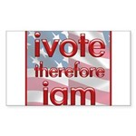 Think, Vote, Be with this Rectangle Sticker