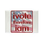 Think, Vote, Be with this Rectangle Magnet (100 pa