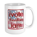 Think, Vote, Be with this Large Mug
