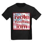 Think, Vote, Be with this Kids Dark T-Shirt