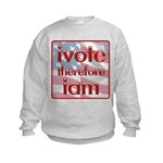 Think, Vote, Be with this Kids Sweatshirt