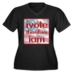 Think, Vote, Be with this Women's Plus Size V-Neck