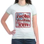 Think, Vote, Be with this Jr. Ringer T-Shirt