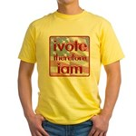 Think, Vote, Be with this Yellow T-Shirt