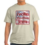 Think, Vote, Be with this Light T-Shirt