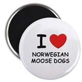 "I love NORWEGIAN MOOSE DOGS 2.25"" Magnet (10 pack)"