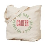 Carter Man Myth Legend Tote Bag