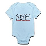 "333 I""M A LITTLE EVILInfant Bodysuit"