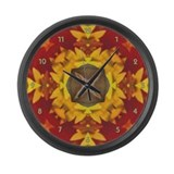 Brussels Griffon Zoe Kaleidescope Large Wall Clock