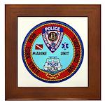 Mamaroneck Harbor Police Framed Tile